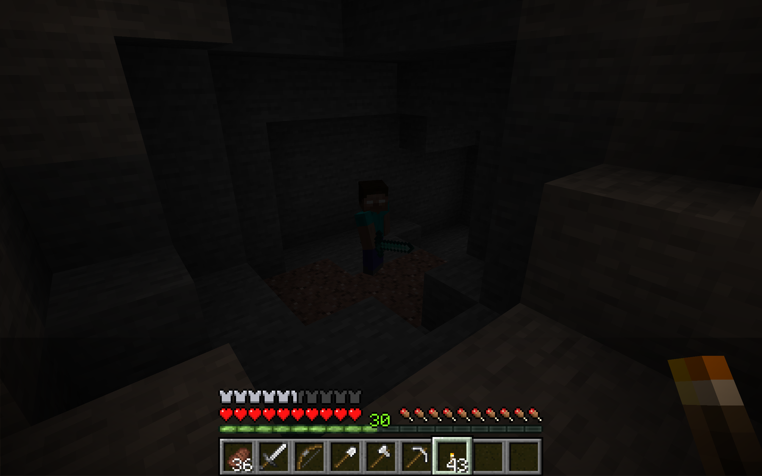 Herobrine cave sighting